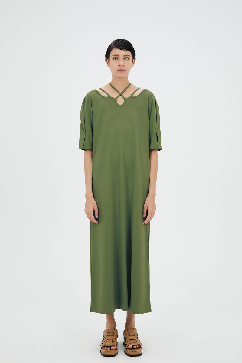 Ivy halfsleeve dress (Pistachio)