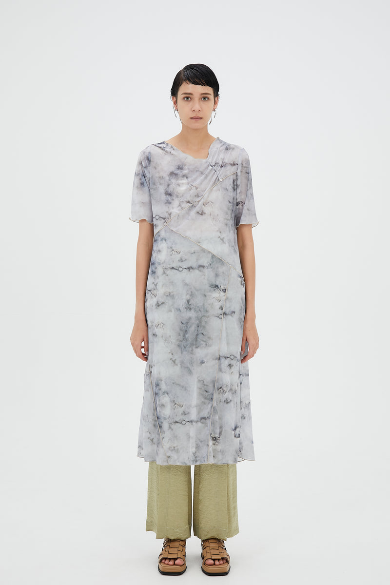Limestone sheer dress (Gray)