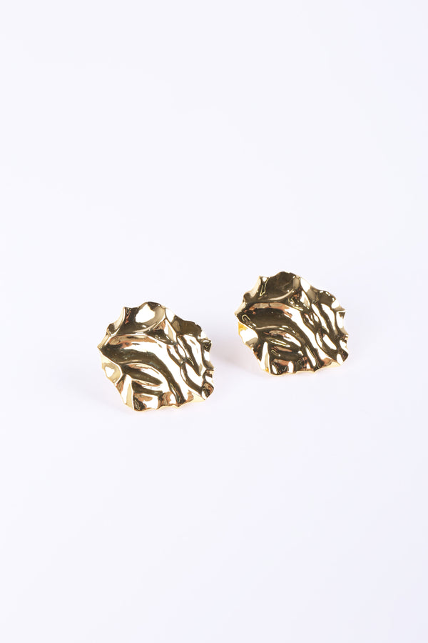 MURRAL Crumpled plate ear accessory (gold)