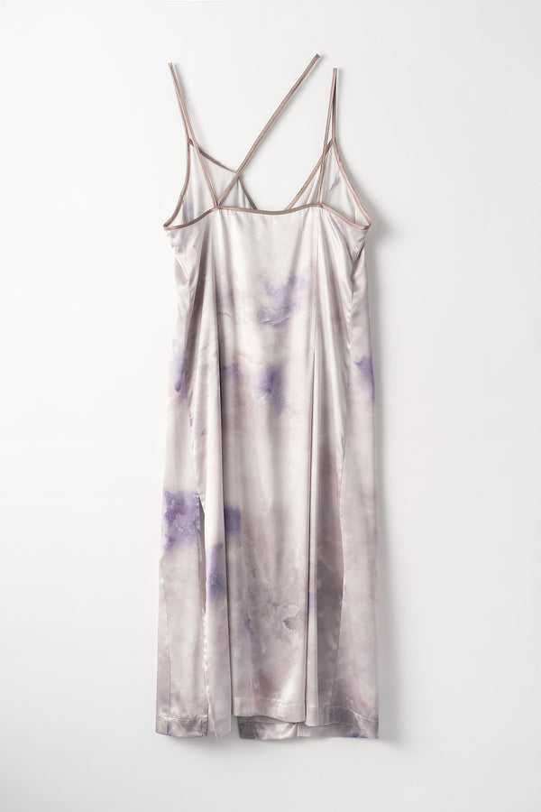 MURRAL candle print camisole dress (purple)