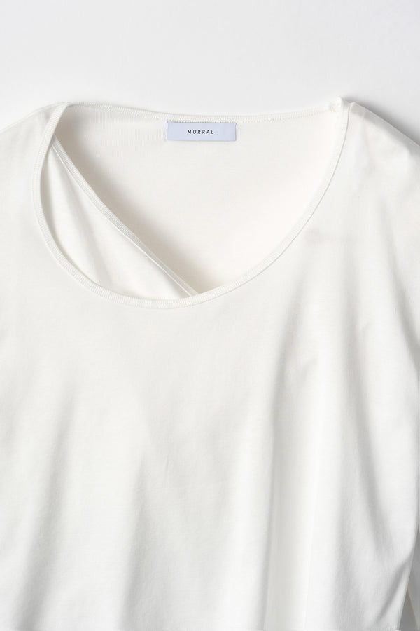 MURRAL layered asymmetry top (white)