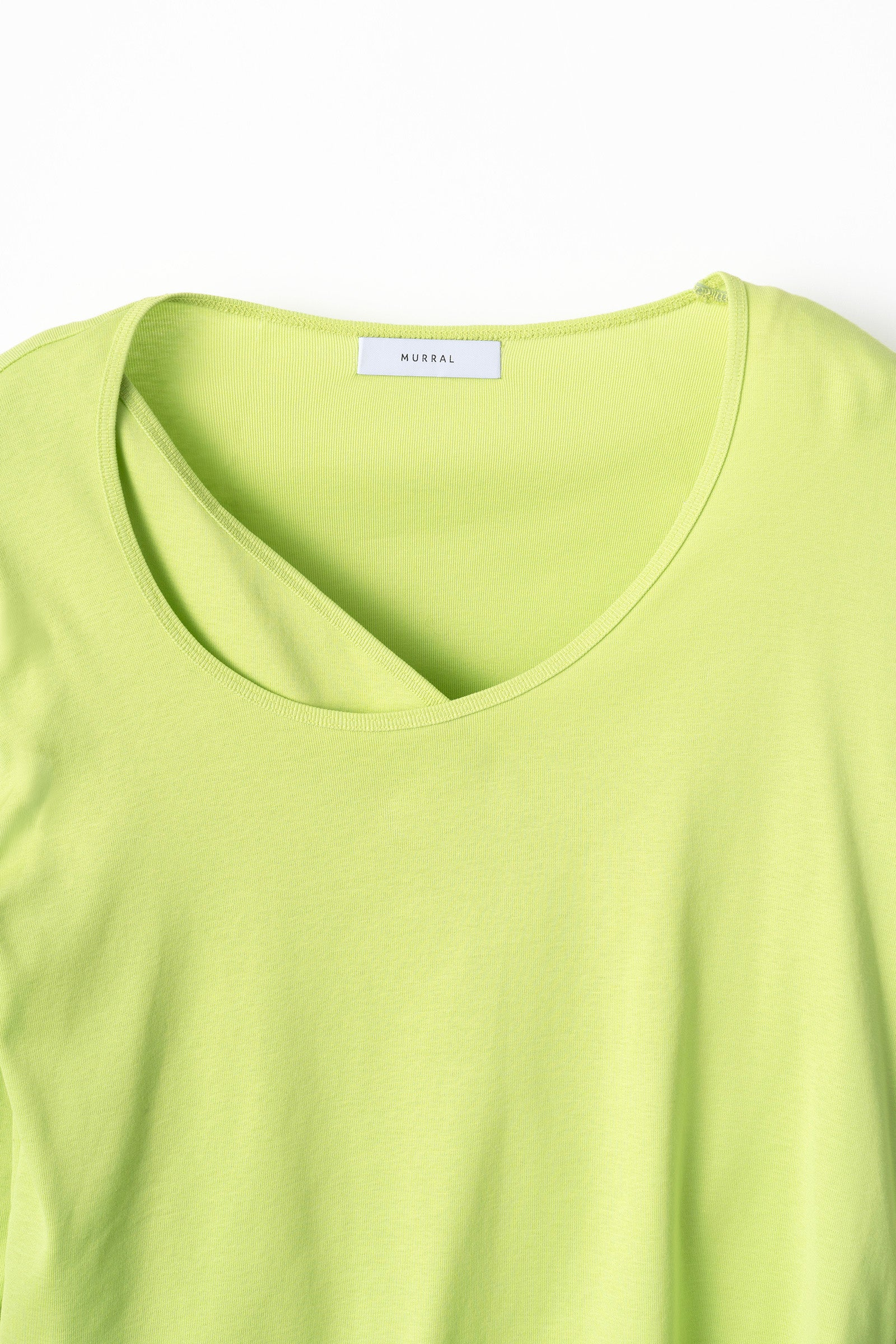 MURRAL layered asymmetry top (light green)
