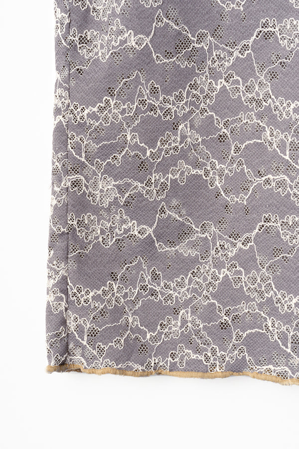 MURRAL stretch lace top (gray)