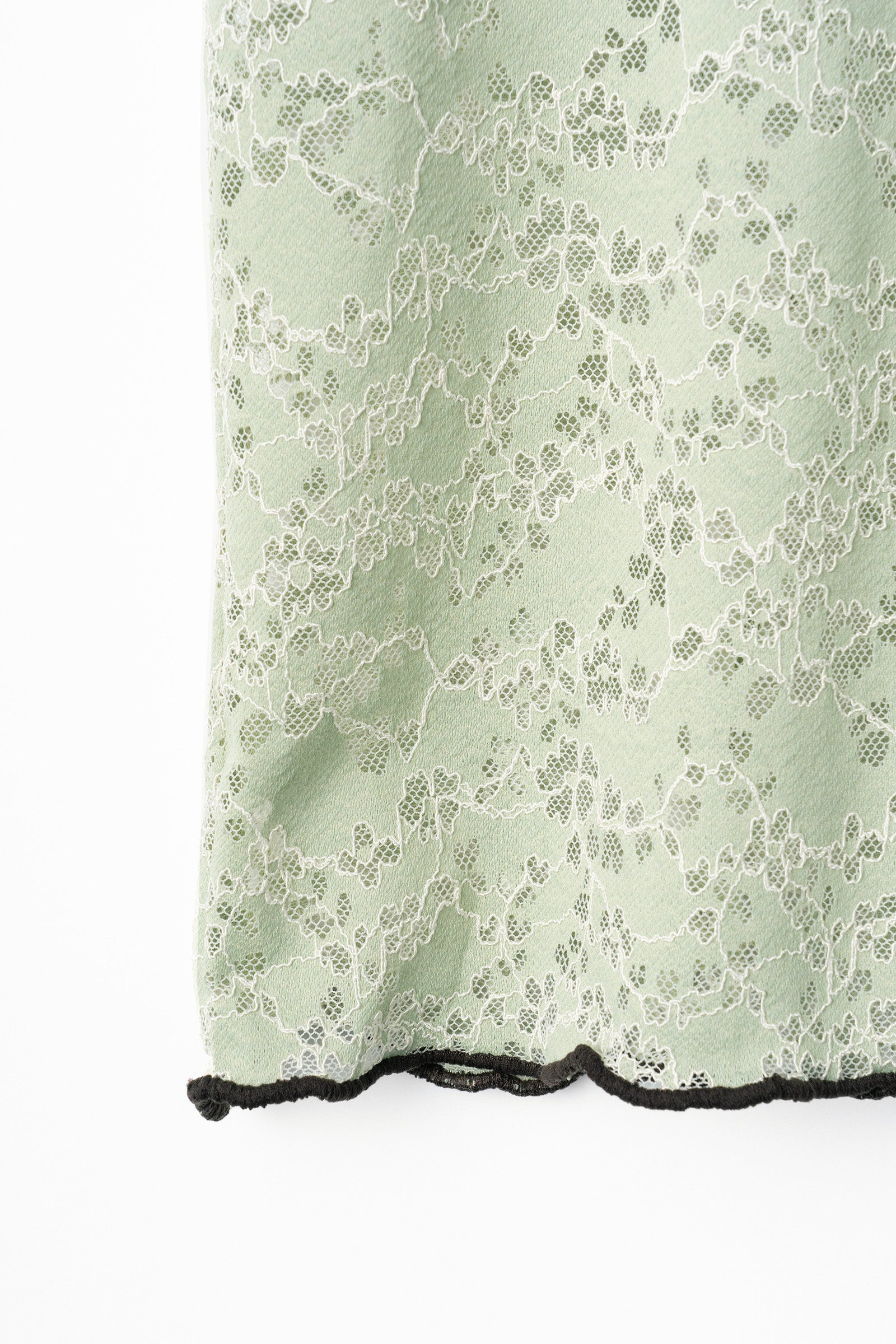 MURRAL stretch lace top (light green)