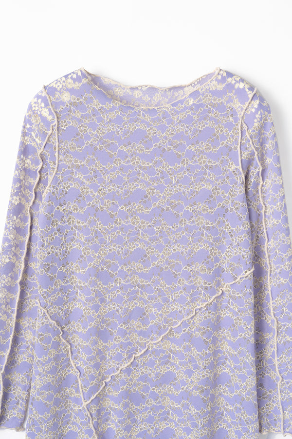 MURRAL Long stretch lace dress (Purple)