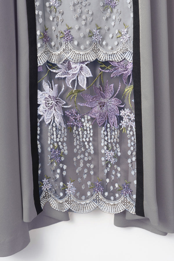 MURRAL framed flower dress (purple)