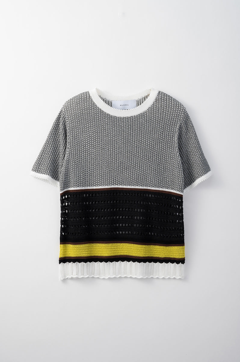 Millefeuille knit top (Black)