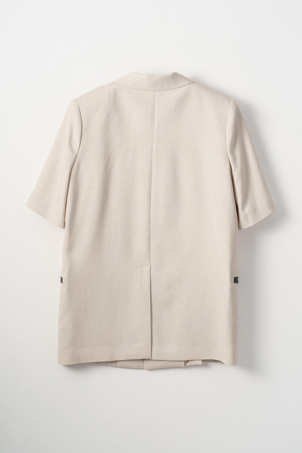 MURRAL Long lapel halfsleeve jacket (Beige)