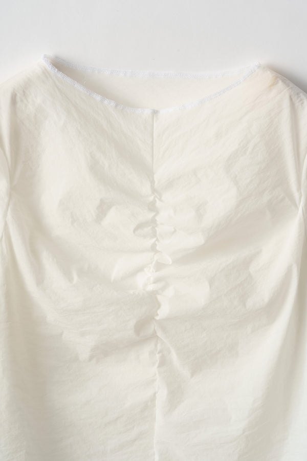 MURRAL Stretch sheer top (White)