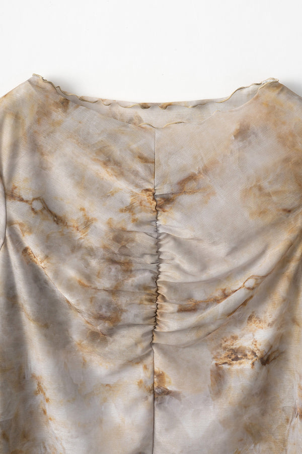 MURRAL Limestone sheer top (Beige)