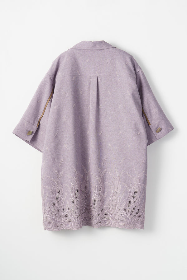 MURRAL Embroidered leaves top (Lavender)