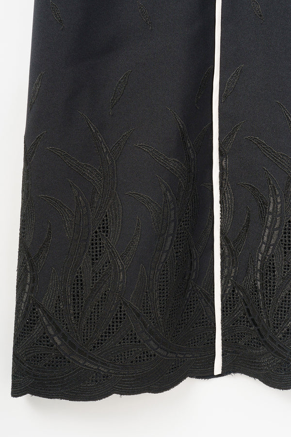 MURRAL Embroidered leaves dress (Black)