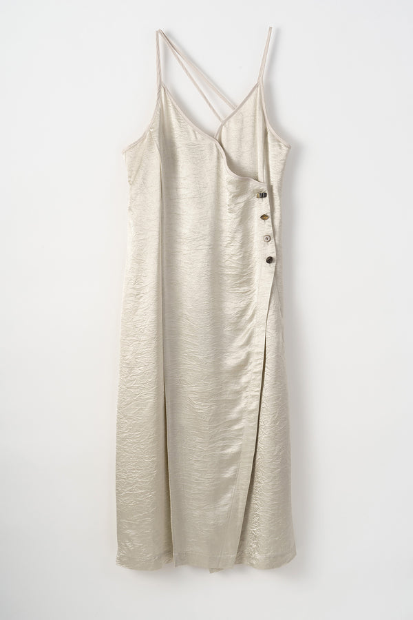MURRAL wrinkle camisole dress (ivory)