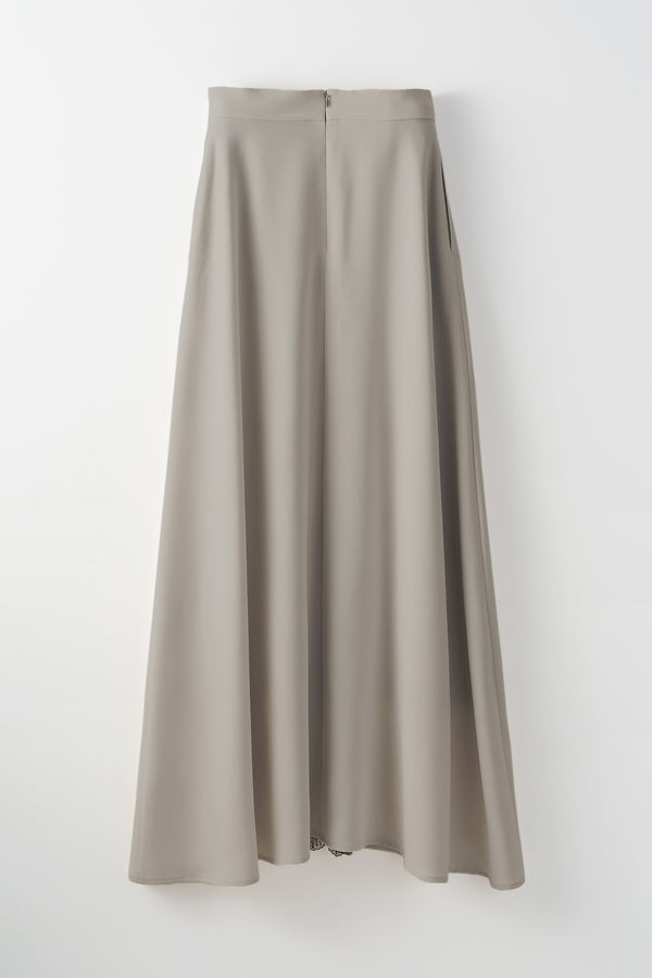 MURRAL Framed flower long skirt (Gray)
