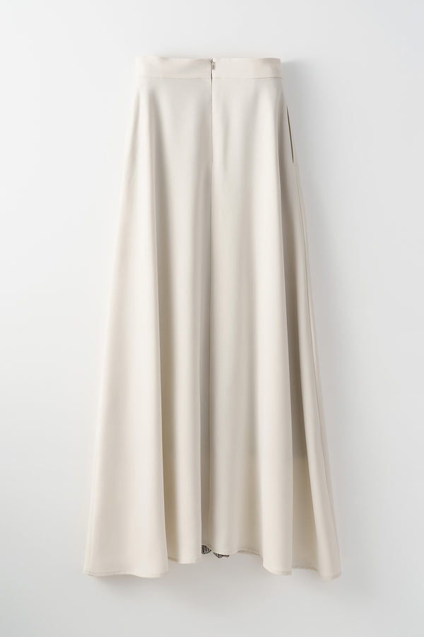MURRAL Framed flower long skirt (Ivory)