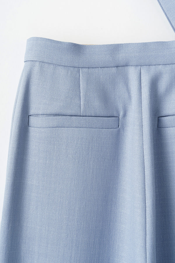 MURRAL Wide trousers with strap(Light blue)
