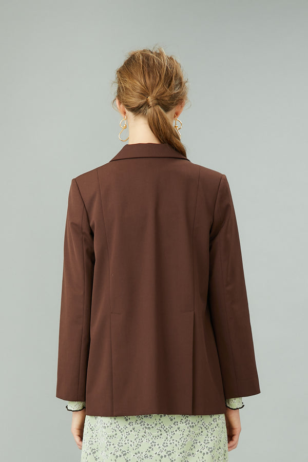 MURRAL slit sleeve blazer (brown)