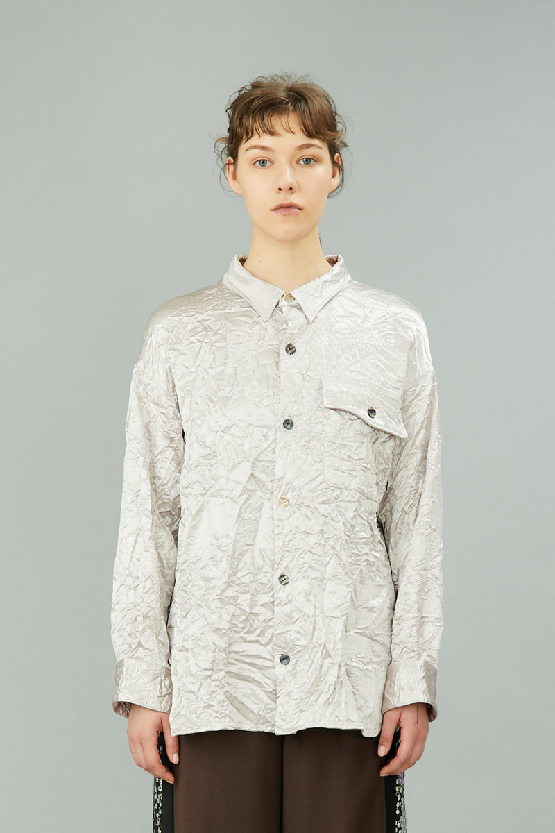 wrinkle shirts (light gray)
