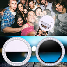 Load image into Gallery viewer, Universal Selfie LED Ring Flash Light Portable Mobile Phone
