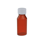 2 oz Amber Oval Bottles w/ Oral Adapters - 250 Count