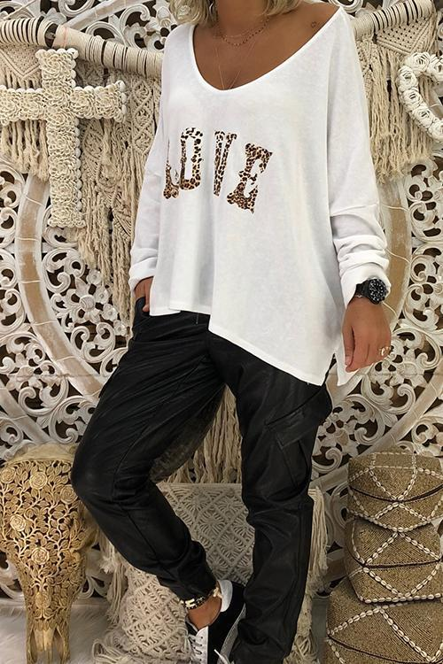 Casual Loose Irregular T-shirt