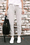 Lace-up Striped Drawstring Pants