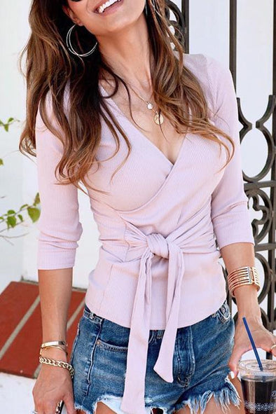 Casual Lace-up T-shirt