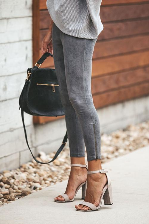 Zippered Feet And Slim Cropped Trousers