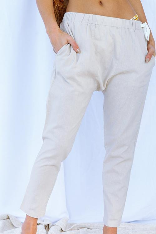 Elasticated Casual Radish Pants