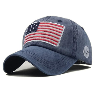 Unisex Fashion Flag Washed Baseball Hats