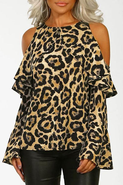 Chic Leopard Knitting T-shirt