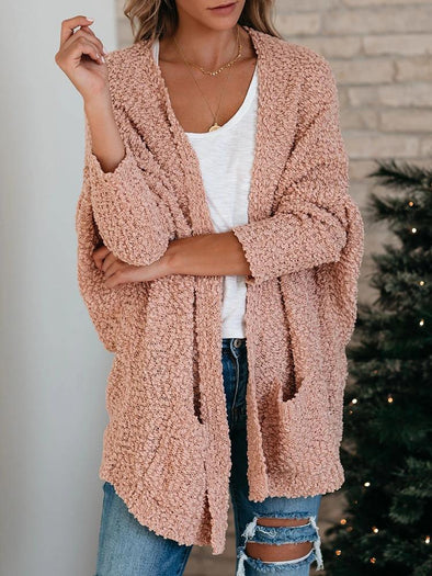 Double Pocket Toothbrush Yarn Cardigan