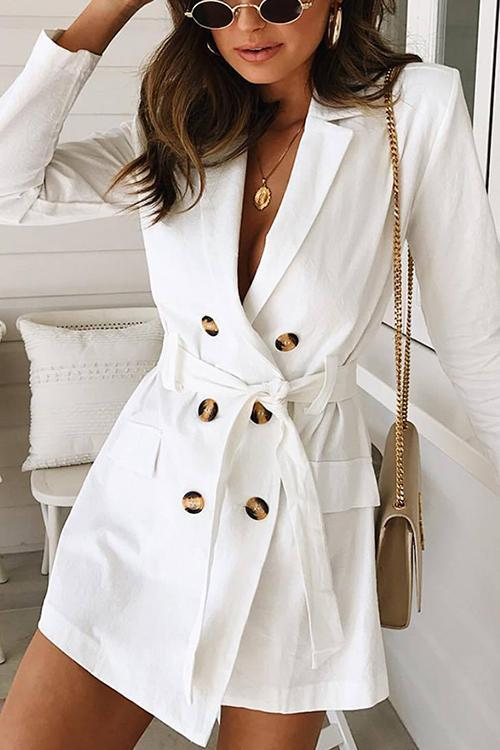 Lace-up Double-breasted Waist Coat