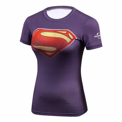 Fitness compression T-shirt - Supergirl classic