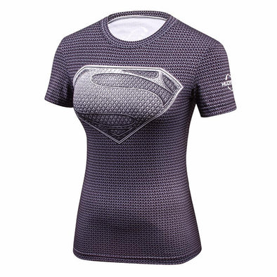 Fitness compression T-shirt - Supergirl