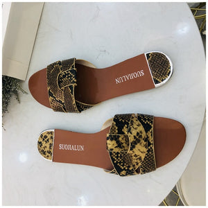Women Summer Beach Slides Flip Flops Outdoor Flat Slipper