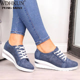 Women Flats Shoes Female Hollow Breathable Mesh