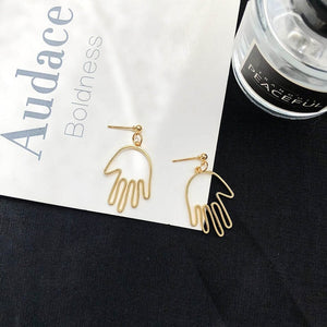 Punk Human Face Drop Retro Abstract Earrings For Women