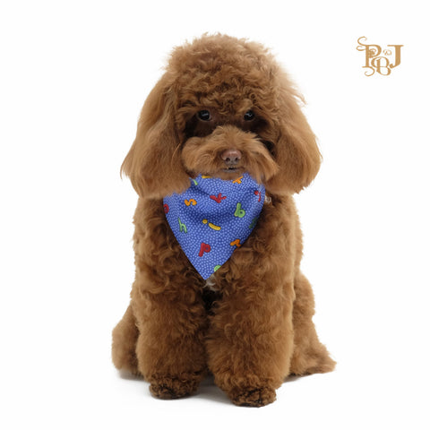 P. Bee and Joanne - Rufus Slip-On Bandana - Blue - img 1