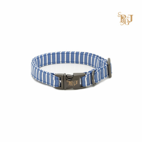 P. Bee & Joanne - Benoit Collar - Blue and White Stripes - img 1