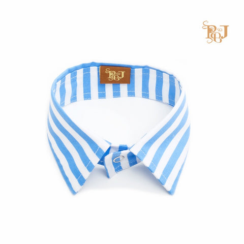 P. Bee & Joanne - Collin Collar - Blue and White Stripes