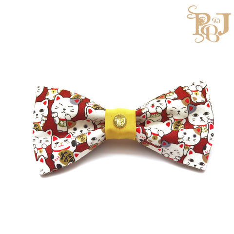 P. Bee & Joanne - Maneki-Neko Classic Snap-on Bow Tie