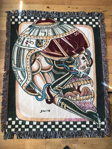 Cyborg BentBack Woven Tapestry Throw