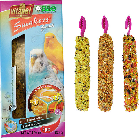 A&e Treat Stick 3in1 Mix Parakeet Twin Pack