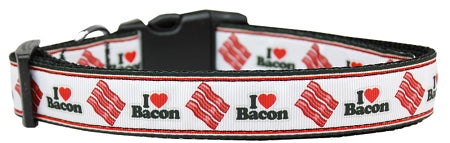 I Love Bacon Nylon Cat Collar