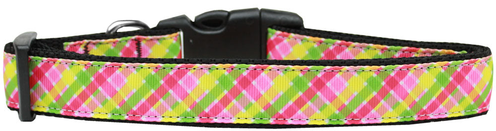 Lemondrop Plaid Nylon Cat Collar