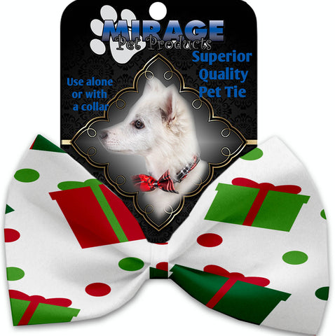 All The Presents! Pet Bow Tie Collar Accessory With Velcro