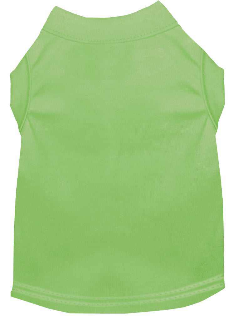 Plain Pet Shirts Lime Green