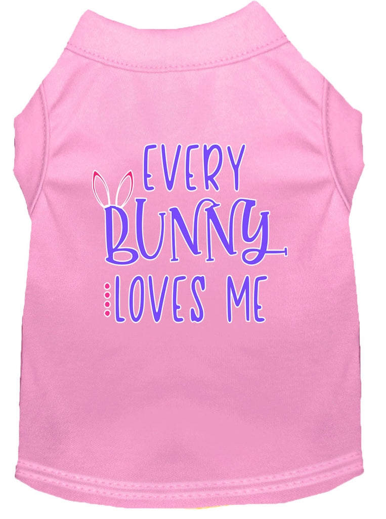 Every Bunny Loves Me Screen Print Dog Shirt