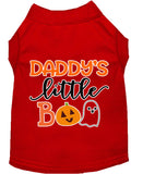 Daddy's Little Boo Screen Print Dog Shirt